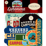 Carta Bella Paper - Gone Camping Collection - Ephemera