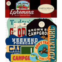 Carta Bella Paper - Gone Camping Collection - Ephemera