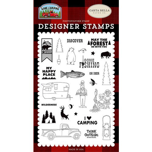 Carta Bella Paper - Gone Camping Collection - Clear Acrylic Stamps - My Happy Place