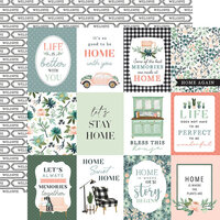 Carta Bella Paper - Gather At Home Collection - 12 x 12 Double Sided Paper - 3 x 4 Journaling Cards