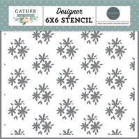 Carta Bella Paper - Gather At Home Collection - 6 x 6 Stencils - Flower Clusters