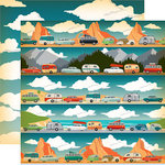 Carta Bella Paper - The Great Outdoors Collection - 12 x 12 Double Sided Paper - On The Road