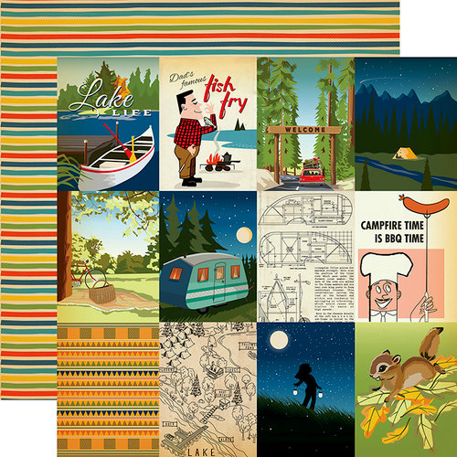 Carta Bella Paper - The Great Outdoors Collection - 12 x 12 Double Sided Paper - 3 x 4 Journaling Card