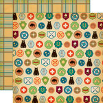 Carta Bella Paper - The Great Outdoors Collection - 12 x 12 Double Sided Paper - Badges