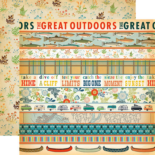 Carta Bella Paper - The Great Outdoors Collection - 12 x 12 Double Sided Paper - Border Strips