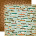 Carta Bella Paper - The Great Outdoors Collection - 12 x 12 Double Sided Paper - Gone Fishing