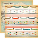 Carta Bella Paper - The Great Outdoors Collection - 12 x 12 Double Sided Paper - Canoeing