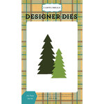 Carta Bella Paper - The Great Outdoors Collection - Desginer Dies - Fir Trees