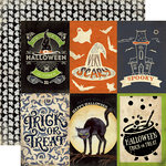 Carta Bella Paper - Haunted Collection - Halloween - 12 x 12 Double Sided Paper - 4 x 6 Journaling Cards