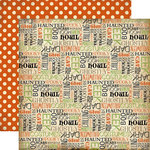 Carta Bella Paper - Haunted Collection - Halloween - 12 x 12 Double Sided Paper - Haunted Words