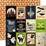 Carta Bella Paper - Haunted Collection - Halloween - 12 x 12 Double Sided Paper - 3 x 4 Journaling Cards