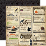 Carta Bella Paper - Haunted Collection - Halloween - 12 x 12 Double Sided Paper - Spooky Ads