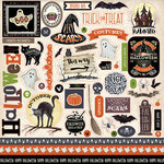Carta Bella Paper - Haunted Collection - Halloween - 12 x 12 Cardstock Stickers - Elements
