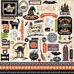Carta Bella Paper - Haunted Collection - Halloween - 12 x 12 Cardstock Stickers - Elements