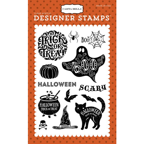 Carta Bella Paper - Haunted Collection - Halloween - Clear Acrylic Stamps - Halloween Haunts