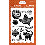 Carta Bella Paper - Haunted Collection - Halloween - Clear Acrylic Stamps - Halloween Haunts