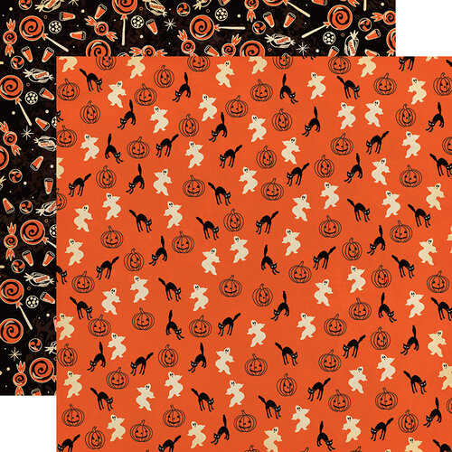 Carta Bella Paper - Happy Halloween Collection - 12 x 12 Double Sided Paper - Happy Haunting