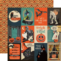 Carta Bella Paper - Happy Halloween Collection - 12 x 12 Double Sided Paper - 3 x 4 Journaling Cards