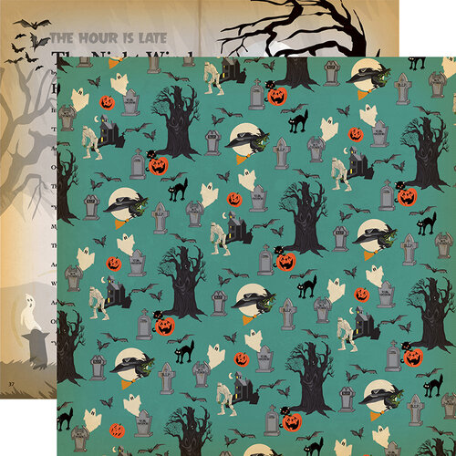 Carta Bella Paper - Happy Halloween Collection - 12 x 12 Double Sided Paper - Graveyard