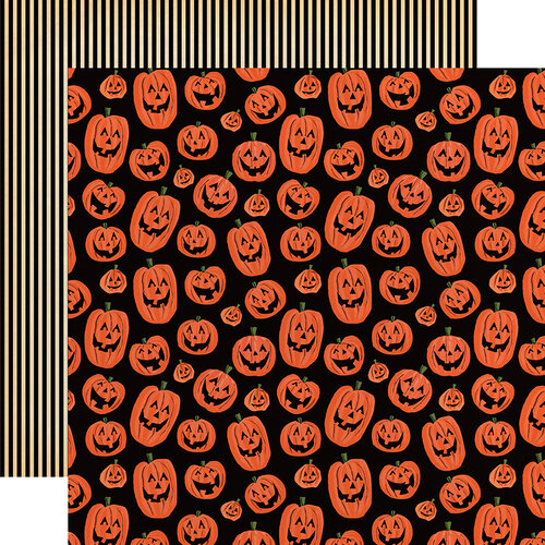 Carta Bella Paper - Happy Halloween Collection - 12 x 12 Double Sided Paper - Laughing Pumpkins