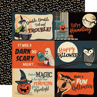Carta Bella Paper - Happy Halloween Collection - 12 x 12 Double Sided Paper - 4 x 6 Journaling Cards