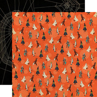 Carta Bella Paper - Happy Halloween Collection - 12 x 12 Double Sided Paper - Trick Or Treaters