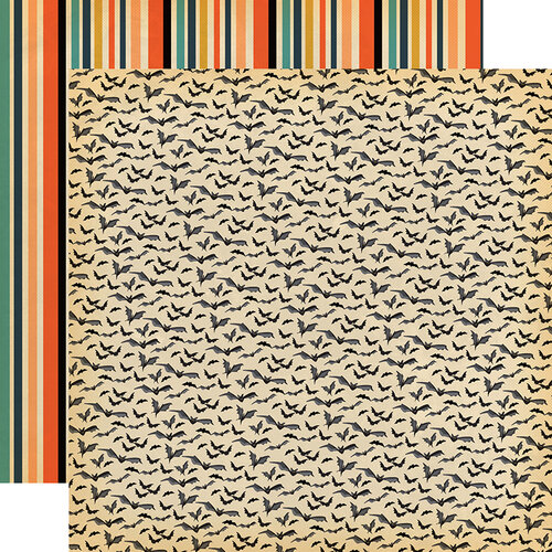 Carta Bella Paper - Happy Halloween Collection - 12 x 12 Double Sided Paper - Bats Galore