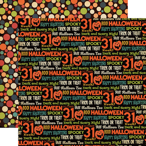 Carta Bella Paper - Happy Halloween Collection - 12 x 12 Double Sided Paper - All Hallows Eve