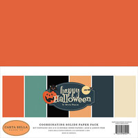 Carta Bella Paper - Happy Halloween Collection - 12 x 12 Paper Pack - Solids