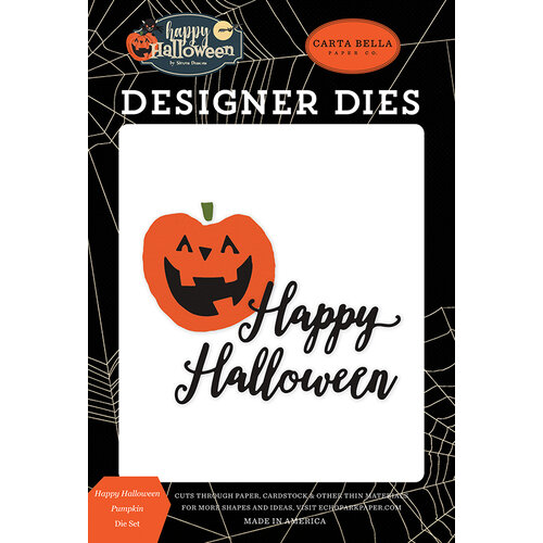 Carta Bella Paper - Happy Halloween Collection - Designer Dies - Pumpkin