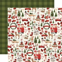 Carta Bella Paper - Hello Christmas Collection - 12 x 12 Double Sided Paper - Merry Christmas