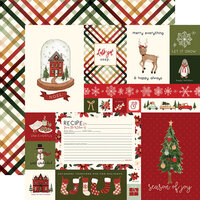 Carta Bella Paper - Hello Christmas Collection - 12 x 12 Double Sided Paper - Journaling Cards