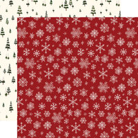 Carta Bella Paper - Hello Christmas Collection - 12 x 12 Double Sided Paper - Snowflakes