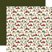 Carta Bella Paper - Hello Christmas Collection - 12 x 12 Double Sided Paper - Christmas Cars