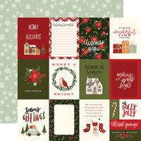 Carta Bella Paper - Hello Christmas Collection - 12 x 12 Double Sided Paper - 3 x 4 Journaling Cards