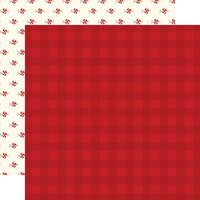 Carta Bella Paper - Hello Christmas Collection - 12 x 12 Double Sided Paper - Red Plaid