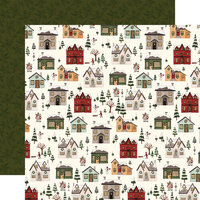 Carta Bella Paper - Hello Christmas Collection - 12 x 12 Double Sided Paper - Christmas Village