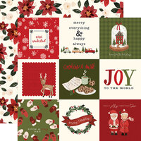 Carta Bella Paper - Hello Christmas Collection - 12 x 12 Double Sided Paper - 4 x 4 Journaling Cards