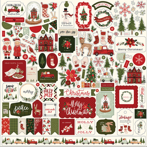 Carta Bella Paper - Hello Christmas Collection - 12 x 12 Cardstock Stickers - Elements