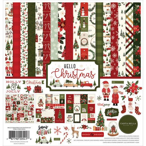 Carta Bella Paper - Hello Christmas Collection - 12 x 12 Collection Kit