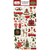Carta Bella Paper - Hello Christmas Collection - Chipboard Stickers - Accents