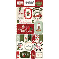 Carta Bella Paper - Hello Christmas Collection - Chipboard Stickers - Phrases