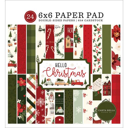 Carta Bella Paper - Hello Christmas Collection - 6 x 6 Paper Pad