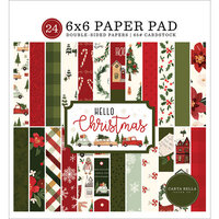 Carta Bella Paper - Hello Christmas Collection - 6 x 6 Paper Pad