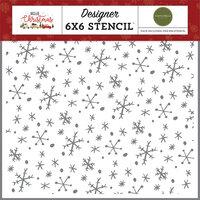 Carta Bella Paper - Hello Christmas Collection - 6 x 6 Stencil - Wonderland Snowflakes