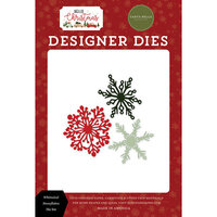 Carta Bella Paper - Hello Christmas Collection - Designer Dies - Whimsical Snowflakes