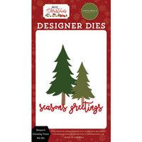 Carta Bella Paper - Hello Christmas Collection - Designer Dies - Season's Greeting Trees