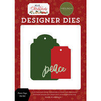 Carta Bella Paper - Hello Christmas Collection - Designer Dies - Peace Tags