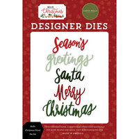Carta Bella Paper - Hello Christmas Collection - Designer Dies - Hello Christmas Word