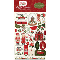 Carta Bella Paper - Hello Christmas Collection - Puffy Stickers